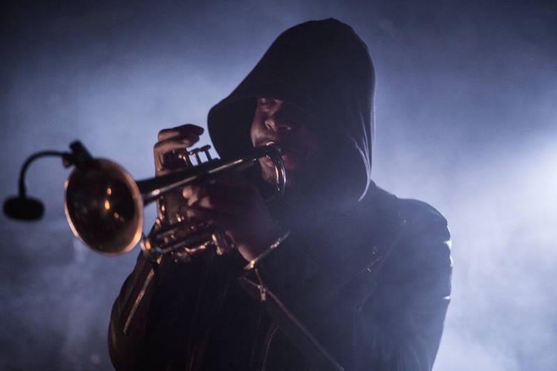 Denmark, Copenhagen  September 17, 2017. The American brass ensemble Hypnotic Brass Ensemble performs a live concert at Pumpehuset in Copenhagen.