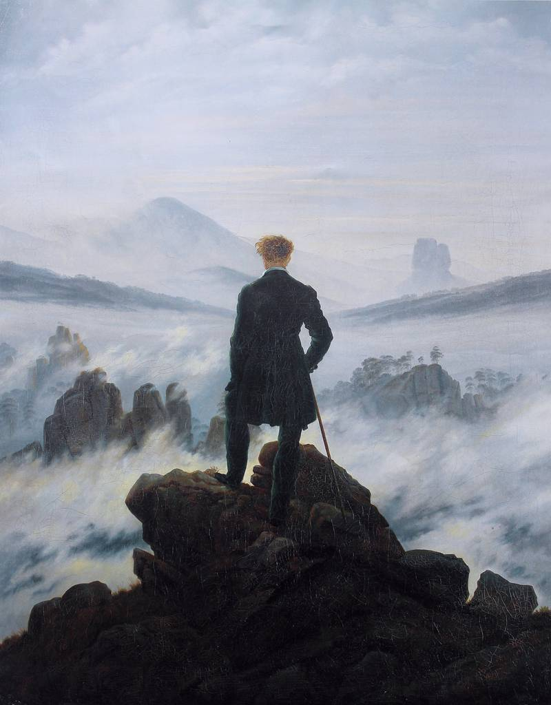 Wanderer above the Sea of Fog (c. 1818).