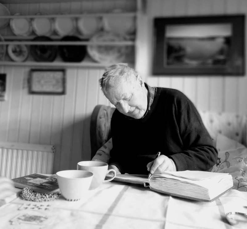 Johan Fredrik Heyerdahl på hytta