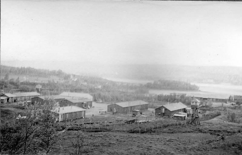 Krøkebærsletta fangeleir  Ca. 1947