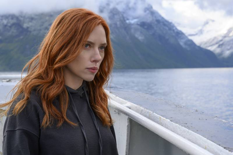 Black Widow/Natasha Romanoff (Scarlett Johansson) in Marvel Studios' BLACK WIDOW, in theaters and on Disney+ with Premier Access. Photo by Jay Maidment. ©Marvel Studios 2021. All Rights Reserved.